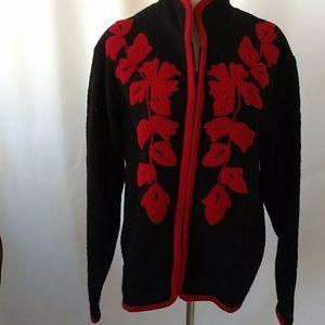 Coldwater Creek Wool  Zip  Sweater